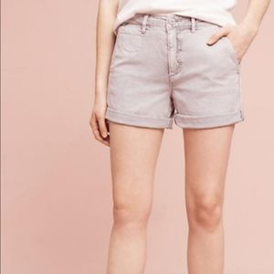 ANTHROPOLOGIE Chino Lavender Relaxed Shorts